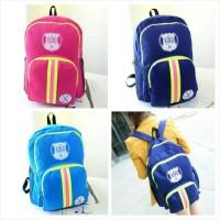 Tas Ransel XOXO First Year Backpack Double Strip Colour Korean Style
