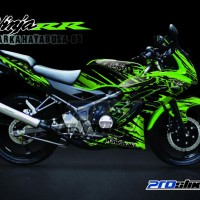 Jual Striping Modif Ninja 150 RR New Motif MARKA HAYABUSA - PROSTIKER