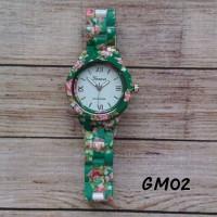 Jam Tangan Geneva Motif Floral 02