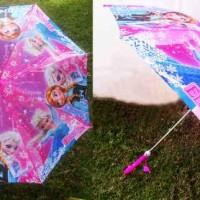 Payung frozen pink ungu