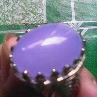 cincin mahkota lavender biru langit natural berserat tembus halus