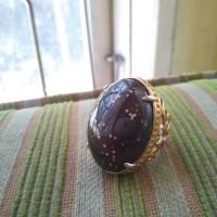 Batu Cincin Lumut Suliki Super motif Totol Sumatra Barat