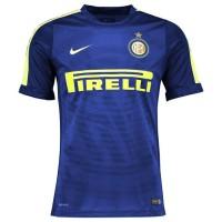 Jersey Inter Milan Pre Match Blue 2014 2015 Club Logo