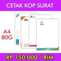 Cetak Kop Surat - A4 80G
