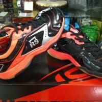 Sepatu Bulutangkis / Badminton RS JF860 LTD Black Orange