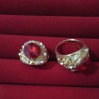 Cincin Batu Akik Merah Delima