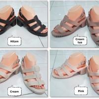 harga Jelly Shoes Tripple Ban (creamtua) ,hak Gerigi Import,empuk Bhn Lembut Tokopedia.com