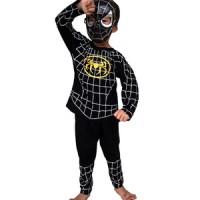 Jual Baju Anak Kostum Topeng Superhero Spiderman Hitam Murah