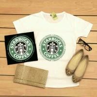 00186-7 Kaos Starbuck Coffee (LD +- 90cm)