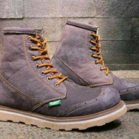 Sepatu Kickers Boot Wingtif Grey