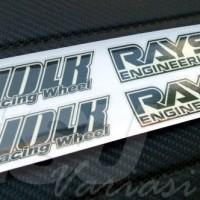 Sticker Decal Velg Volk Rays Hitam