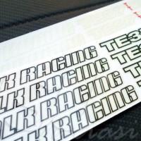Sticker Decal Velg Volk Racing TE37