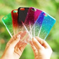 Casing HP Unik RAINDROP OMBRE CASE Iphone 4/4s/5/5s/6 Samsung S4 / S5