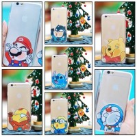 Softcase ultrathin jelly SILLY CARTOON FACE iphone 4/4s/5/5s/6/6+