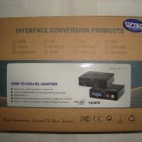 Converter Adapter Box HDMI Female To VGA Female + Audio RCA Female