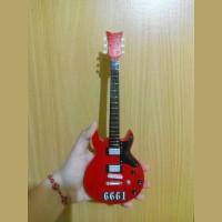 Miniatur Gitar AV7X Cherry Schecter 6661