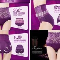 Sexy Lace High Waist Panties ( mengecilkan perut &