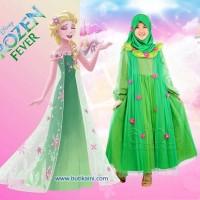 Set Busana Muslim Gamis Anak Aini 160202 Model Queen Elsa Frozen Fever