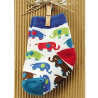 Mud Pie Elephant Layette Sock, 0-12M