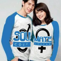 Baju Couple Lengan Panjang / Kaos pasangan / Kopel Soulmate 9544