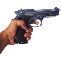 Korek Api Pistol Barreta Silver