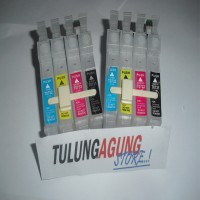 cartridge infus versi printer epson T 4 warna