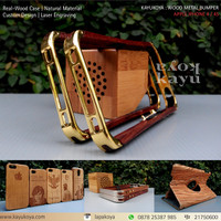 IPHONE 4 4S WOODEN METAL BUMPER - MIRIP ELEMENT CASE RONIN BOCOTE
