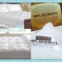 HOTEL BED MATTRESS (MATRAS) Topper FITTED-Size Ex.KING | 100% MICROGEL