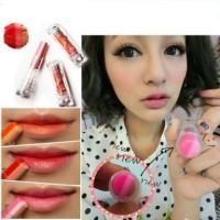 Lipstick 3 in 1 lips lipbalm pink bibir lipgloss naked mac bibir PINK
