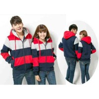 Jaket Couple Kombinasi Navy