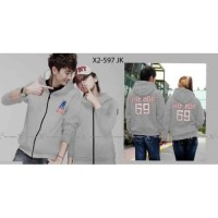 Jaket Couple Hip Hop 69 Grey