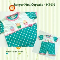 Baju Bayi Murah /Pakaian Anak Jumper Kimi Cupcake - M2414 Hijau Tosca