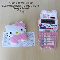 Hello Kitty Kalkulator Lipat Face Ribbon Pink