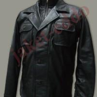 Jaket Jas kulit sintetis laki-laki/blazer kulit sintetis cowo