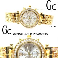 JAM TANGAN WANITA GUESS GC AKSEN CRONO GOLD NEW KW