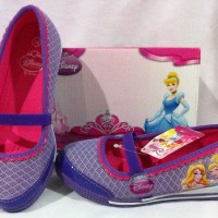 Sepatu Anak - Disney Friendly Princess - Purple pink (Sz 28-33)