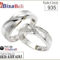 cincin kawin tunangan pernikahan terbaru emas perak palladium no.935