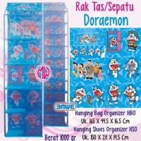 harga 1 Set Hanging Bag Shoes Organizer Rak Tas Sepatu Gantung Doraemon Tokopedia.com