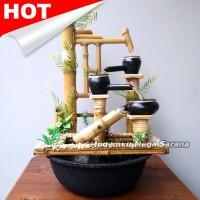Miniatur Air Mancur Bambu Cendani - Mangiran Jungkat Jungkit 34x20x43