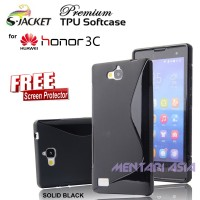 Softcase Huawei Honor 3c : S-jacket Premium Tpu ( + Free Sp)