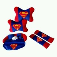 Bantal Mobil Set 3 in 1 Motif Superman