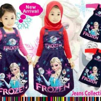 Maxi Overall Frozen 3in1 Mtt,Denim wash Sueding Diprinting+Inner+Jil