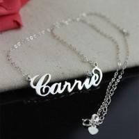 Perhiasan Kalung Nama Monel Silver