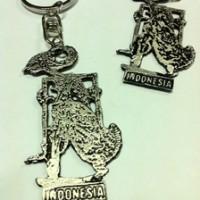Gantungan Kunci Wayang Logam Silver Souvenir Gifts Khas Indonesia