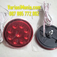Led Reflektor Bumper Belakang Fortuner Bulat + Lampu Rem