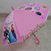 Payung panjang / tongkat anak PVC Karakter FROZEN pink