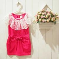 Baju Anak - Fuschia Mini Dress (GI-584)