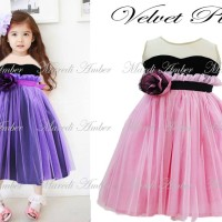Baju Anak - Amber Velvet Pink (GI-592)
