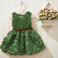 Baju Anak - Little Rose Green (GI-590)
