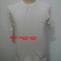 Polos putih combed 20S (XXL)